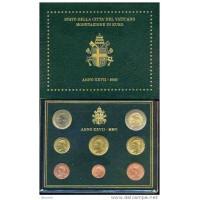 Vatican City 2005 Euro coin BU Set Pope John Paul II