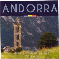 Andorra 2016 Euro coins BU set