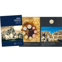 Malta 2016 Euro coins BU set with commemorative 2 euro coin