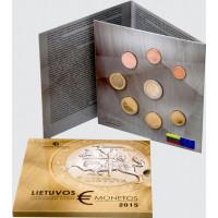 Lithuania 2015 Euro coins BU set