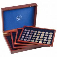 Leuchtturm pressentation case Volterra Quattro de Luxe for 24 euro coin sets in capsules