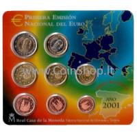 Spain 2001 Euro Coins BU Set