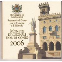 San Marino 2006 Euro coins BU set with 5 euro silver coin